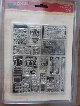 Stempelset Ephemera Collections from the Journey