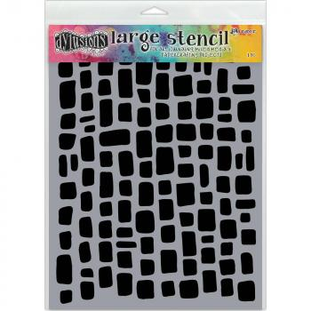 Dylusions Schablone SUGAR LUMPS Large 9x12""