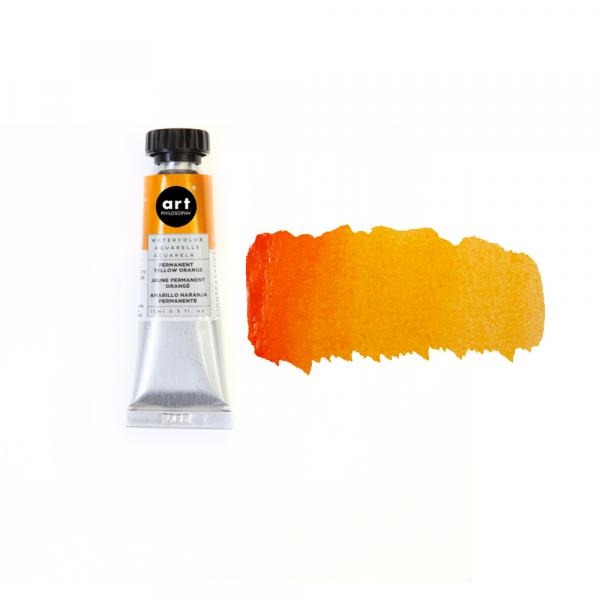 ❀ Art Philosophy Watercolor Tube - PERMANENT YELLOW ORANGE
