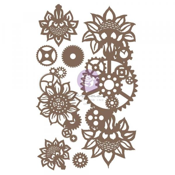 ♡Prima - Decorative Chipboard - MACHINE FLORAL DECORS♡