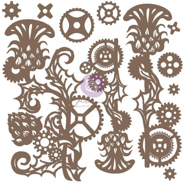 ♡Prima - Decorative Chipboard - MECHANICAL THISTLE♡