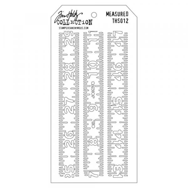 Tim Holtz Schablone - Measured